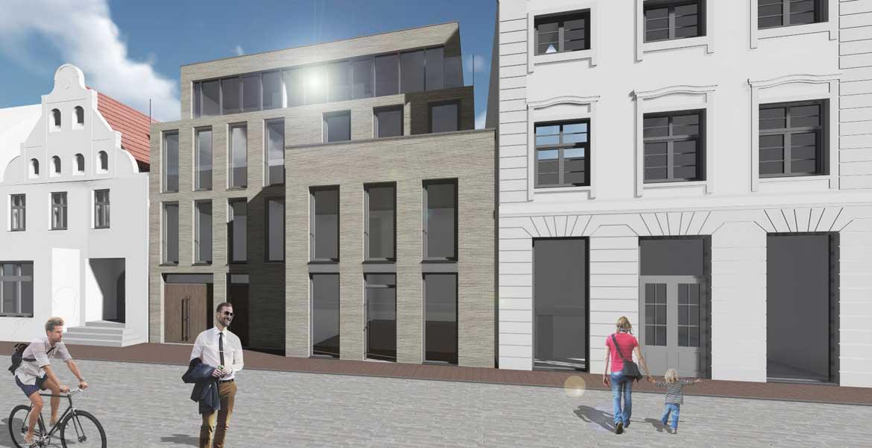 Architekten Rostock visualisierung konzept umbau kleines haus in rostock bräuer