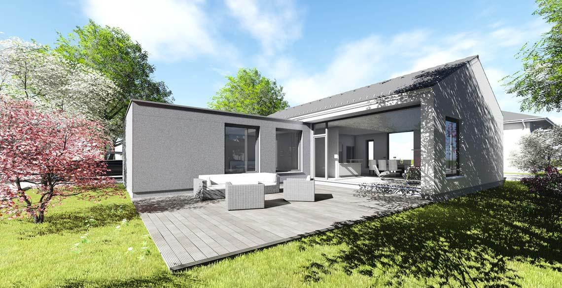 Bungalows in u form die neuesten innenarchitekturideen for Architekten bungalow modern