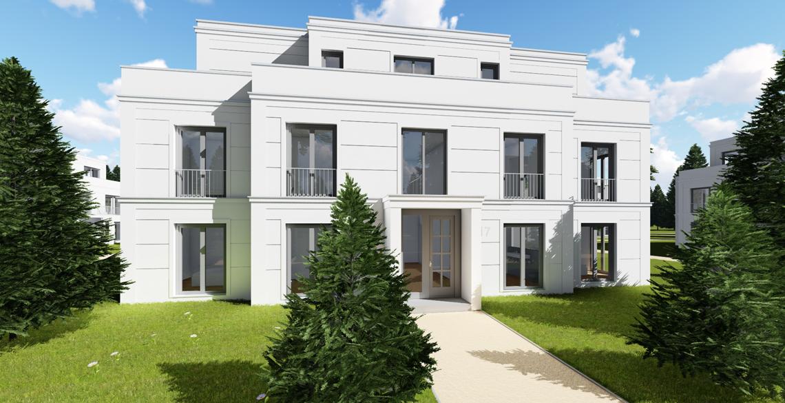 Visualisierung stadtvilla klassisches design br uer for Stadtvilla klassisch